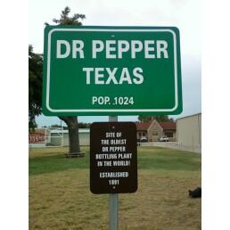 Sign outside of Dublin, Texas